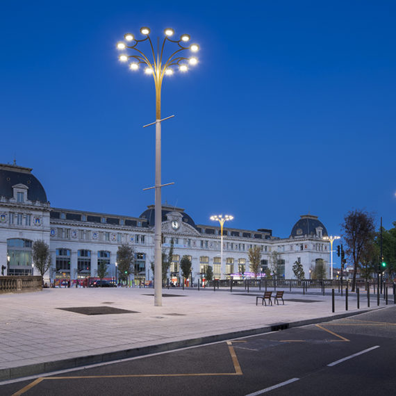 Esplanade gare Matabiau à Toulouse